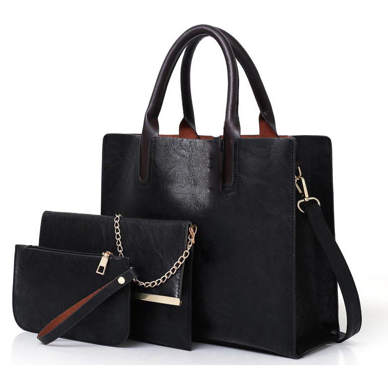 1574dfc57c1 Tas Fashion Korea Wanita Bag in Bag 3 in 1 - XSJ-B-40 - Black ...