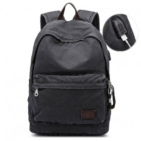 BUG Since 1963 Tas Ransel Backpack dengan USB Charger Port - P18001 - Black