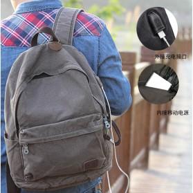 BUG Since 1963 Tas Ransel Backpack dengan USB Charger Port - P18001 - Black - 3