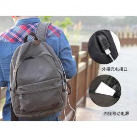 BUG Since 1963 Tas Ransel Backpack dengan USB Charger Port - P18001 - Black - 5