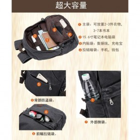 BUG Since 1963 Tas Ransel Backpack dengan USB Charger Port - P18001 - Black - 6