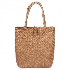 Tas Anyaman Handmade Tote Bag Wanita - 8008 - Brown