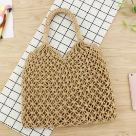 Tas Tote Wanita Handmade Woven Summer Beach Bag - 1246 - Brown