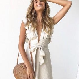 Tas Selempang Wanita Straw Summer Beach Bag - FT - Brown - 6