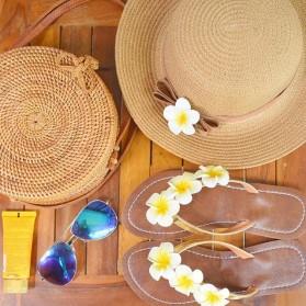 Tas Selempang Wanita Straw Summer Beach Bag - FT - Brown - 8