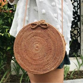 Tas Selempang Wanita Straw Summer Beach Bag - FT - Brown - 9
