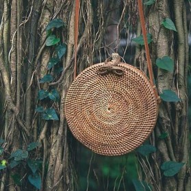 Tas Selempang Wanita Straw Summer Beach Bag - FT - Brown - 10