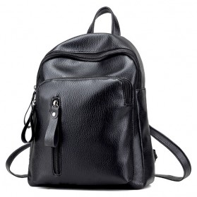 Tas Ransel Wanita PU Leather - BD0153 - Black
