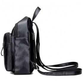 Tas Ransel Wanita PU Leather - BD0153 - Black - 2