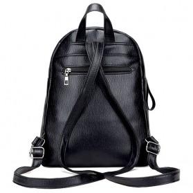 Tas Ransel Wanita PU Leather - BD0153 - Black - 3