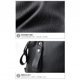 Tas Ransel Wanita PU Leather - BD0153 - Black - 4