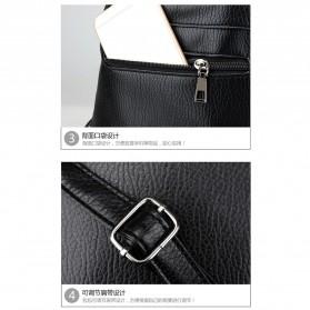 Tas Ransel Wanita PU Leather - BD0153 - Black - 5