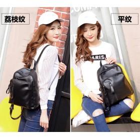 Tas Ransel Wanita PU Leather - BD0153 - Black - 8