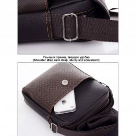 Twins Tas Selempang Pria Messenger Bag Bahan Kulit - JQ701 - Black - 5