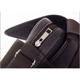 Twins Tas Selempang Pria Messenger Bag Bahan Kulit - JQ701 - Black - 6