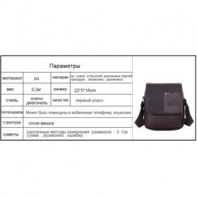 Twins Tas Selempang Pria Messenger Bag Bahan Kulit - JQ701 - Black - 7