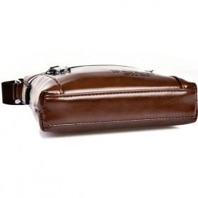 Rhodey Polo Weide Tas Selempang Pria Messenger Bag Bahan Kulit Model Vertical - 0611 - Khaki - 6