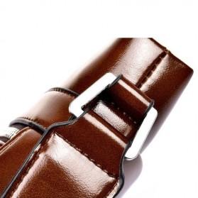 Rhodey Polo Weide Tas Selempang Pria Messenger Bag Bahan Kulit Model Vertical - 0611 - Khaki - 7
