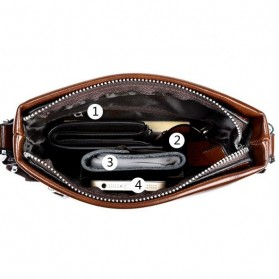 Rhodey Polo Weide Tas Selempang Pria Messenger Bag Bahan Kulit Model Vertical - 0611 - Khaki - 8