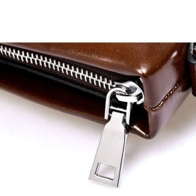 Rhodey Polo Weide Tas Selempang Pria Messenger Bag Bahan Kulit Model Vertical - 0611 - Khaki - 10