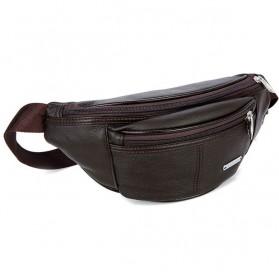 Hchuanghui Tas Pinggang Waistbag Pria Bahan Genuine Leather - MBA62 - Brown