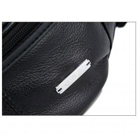 Hchuanghui Tas Pinggang Waistbag Pria Bahan Genuine Leather - MBA62 - Brown - 5