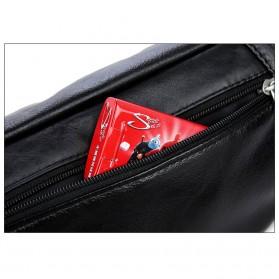 Hchuanghui Tas Pinggang Waistbag Pria Bahan Genuine Leather - MBA62 - Brown - 6