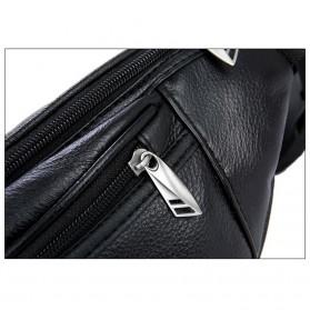 Hchuanghui Tas Pinggang Waistbag Pria Bahan Genuine Leather - MBA62 - Brown - 9