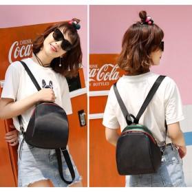 Tas Ransel Mini Wanita Casual Nylon - E18 - Black