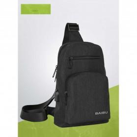 BAIBU Tas Selempang Sling Bag Kasual - J51-L9-Z50 (backup) - Black