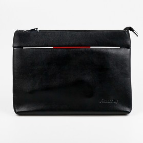 Rhodey Tas Genggam Dompet Kulit Clutch Bag Size Large - HB-005 - Black - 13