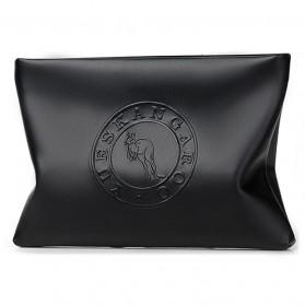 Kangaroo Tas Genggam Kulit Clutch Bag - HB-011-1 - Black