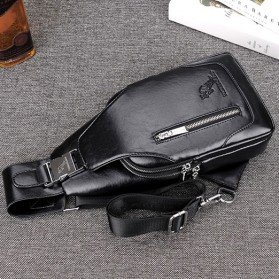 YUES KANGAROO Tas Selempang Kulit Sling Bag - Small - HA-014 - Black