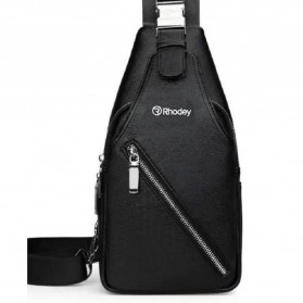 RHODEY Tas Selempang Kulit Crossbody Sling Bag - HA-034 - Black