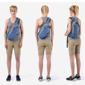 NatureHike Tas Sling Bag Sporty Fashion - Black/Blue - 8