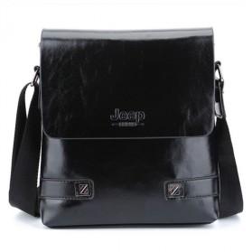 Jeep Tas Selempang Messenger Bag Kulit Maskulin Pria - YP534 - Black
