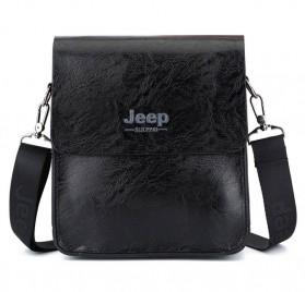 Jeep Tas Selempang Messenger Bag Kulit Maskulin Pria - PI704 - Black