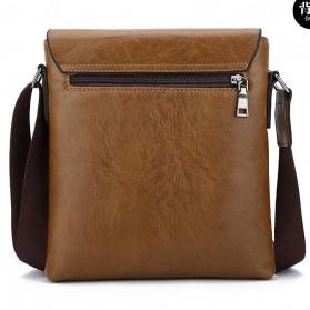 Rhodey Sulppai Tas Selempang Messenger Bag Kulit Maskulin Pria - PI513 - Black - 3