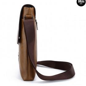 Rhodey Sulppai Tas Selempang Messenger Bag Kulit Maskulin Pria - PI513 - Black - 6