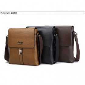 Rhodey Sulppai Tas Selempang Messenger Bag Kulit Maskulin Pria - PI513 - Black - 7