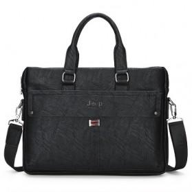 Jeep Tas Selempang Jinjing Messenger Bag Kulit Maskulin Pria - PI9616-3 - Black