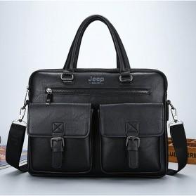 Jeep Tas Selempang Jinjing Messenger Bag Kulit Maskulin Pria - PI706 - Black