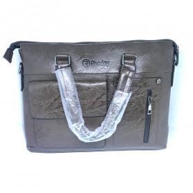 Rhodey Tas Selempang Jinjing Messenger Bag Kulit Maskulin Pria - PI667 - Dark Brown - 2