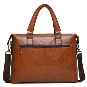 Rhodey Tas Selempang Jinjing Messenger Bag Kulit Maskulin Pria - PI667 - Dark Brown - 3