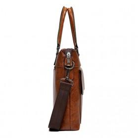 Rhodey Tas Selempang Jinjing Messenger Bag Kulit Maskulin Pria - PI667 - Dark Brown - 4