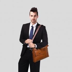 Rhodey Tas Selempang Jinjing Messenger Bag Kulit Maskulin Pria - PI667 - Dark Brown - 5