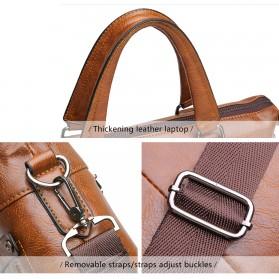 Rhodey Tas Selempang Jinjing Messenger Bag Kulit Maskulin Pria - PI667 - Dark Brown - 6