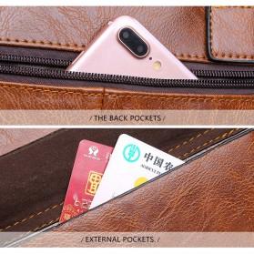Rhodey Tas Selempang Jinjing Messenger Bag Kulit Maskulin Pria - PI667 - Dark Brown - 8