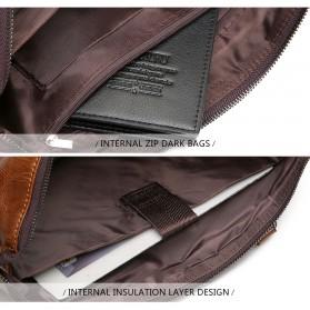 Rhodey Tas Selempang Jinjing Messenger Bag Kulit Maskulin Pria - PI667 - Dark Brown - 9