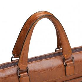 Rhodey Tas Selempang Jinjing Messenger Bag Kulit Maskulin Pria - PI667 - Dark Brown - 11